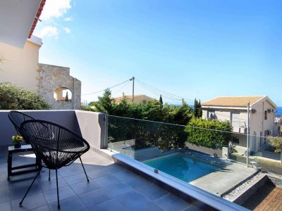 Villa Themis in Athens Greece, balcony, by Olive Villa Rentals