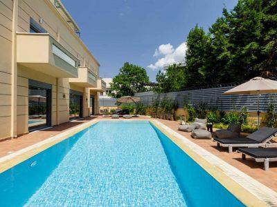 Olive Urban Estate in Athens Greece, pool, by Olive Villa Rentals