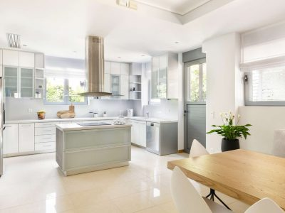 Olive Urban Estate in Athens Greece, kitchen, by Olive Villa Rentals