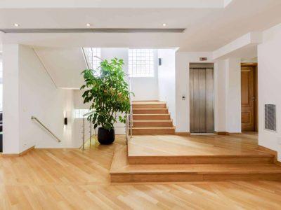 Olive Urban Estate in Athens Greece, stairway, by Olive Villa Rentals