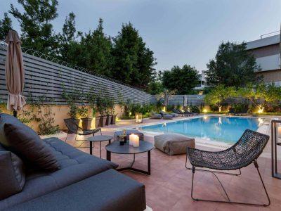 Olive Urban Estate in Athens Greece, pool 3, by Olive Villa Rentals