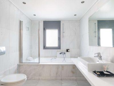 Olive Urban Estate in Athens Greece, bathroom 4, by Olive Villa Rentals
