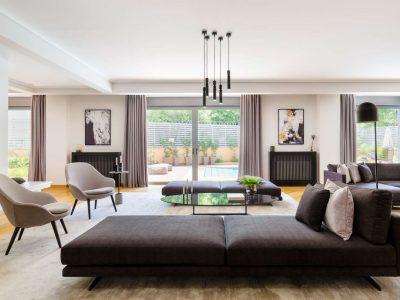 Olive Urban Estate in Athens Greece, living room 2, by Olive Villa Rentals