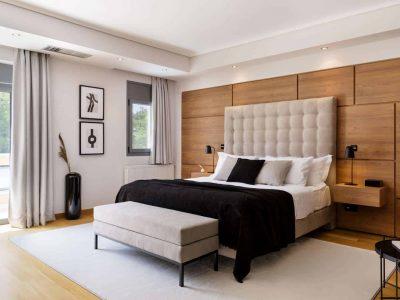 Olive Urban Estate in Athens Greece, bedroom, by Olive Villa Rentals