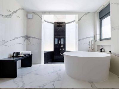 Olive Urban Estate in Athens Greece, bathroom, by Olive Villa Rentals