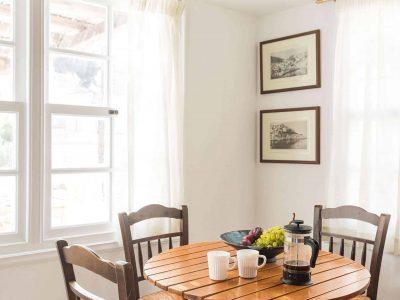 Villa Violet in Hydra Greece, table, by Olive Villa Rentals
