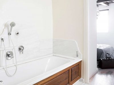 Villa Violet in Hydra Greece, bathroom, by Olive Villa Rentals