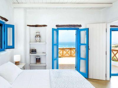 Villa Lavanda in Koufonisia Greece, bedroom, by Olive Villa Rentals