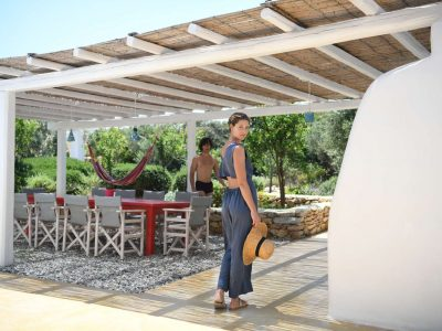 Villa Lavanda in Koufonisia Greece, entrance, by Olive Villa Rentals