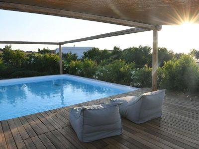 Villa Oliva in Koufonisia Greece, pool view, by Olive Villa Rentals