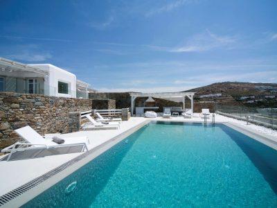Villa Ariadne in Mykonos Greece, pool, by Olive Villa Rentals