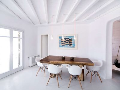 Villa Ariadne in Mykonos Greece, dining room 3, by Olive Villa Rentals