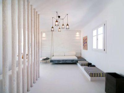 Villa Ariadne in Mykonos Greece, bedroom, by Olive Villa Rentals