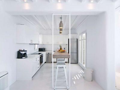 Villa Ariadne in Mykonos Greece, kitchen 3, by Olive Villa Rentals