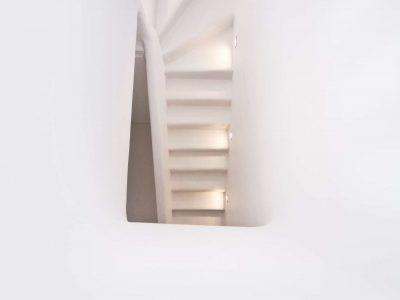 Villa Ariadne in Mykonos Greece, stairway, by Olive Villa Rentals