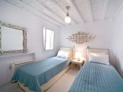 Villa Ariadne in Mykonos Greece, bedroom 2, by Olive Villa Rentals