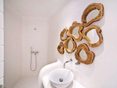 Villa Ariadne in Mykonos Greece, bathroom, by Olive Villa Rentals
