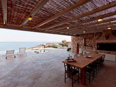 Villa Joy in Mykonos Greece, outside 2, by Olive Villa Rentals