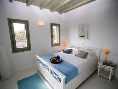 Villa Joy in Mykonos Greece, bedroom, by Olive Villa Rentals