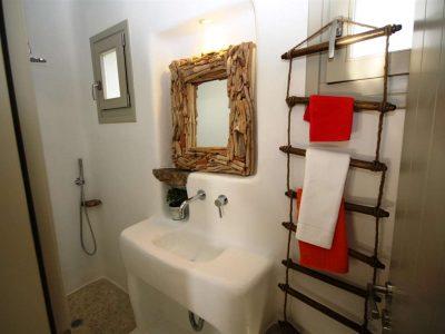 Villa Joy in Mykonos Greece, bathroom, by Olive Villa Rentals