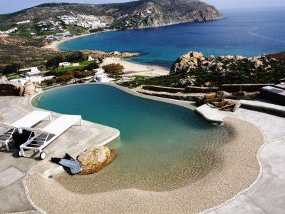 Villa Joy in Mykonos Greece, beach, by Olive Villa Rentals