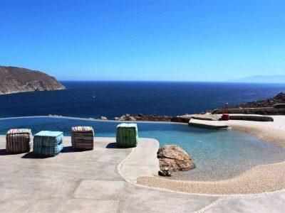 Villa Joy in Mykonos Greece, pool, by Olive Villa Rentals