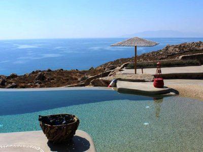 Villa Joy in Mykonos Greece, pool 2, by Olive Villa Rentals