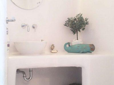 Villa Leirion in Mykonos Greece, bathroom, by Olive Villa Rentals