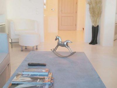 Villa Leirion in Mykonos Greece, living room 2, by Olive Villa Rentals