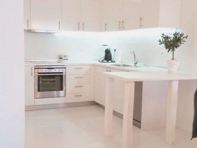 Villa Leirion in Mykonos Greece, kitchen, by Olive Villa Rentals