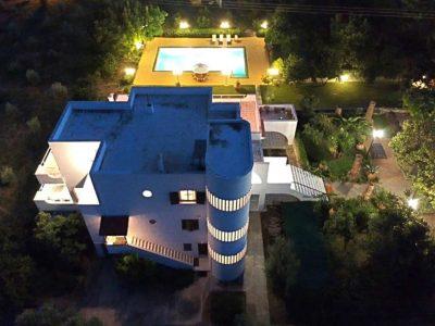 Villa Thetis in Pelion Greece, aerial view, by Olive Villa Rentals