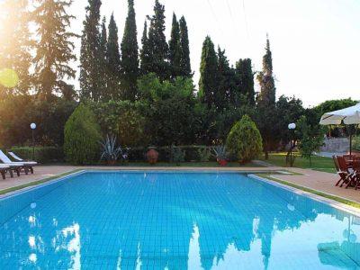 Villa Thetis in Pelion Greece,pool view, by Olive Villa Rentals