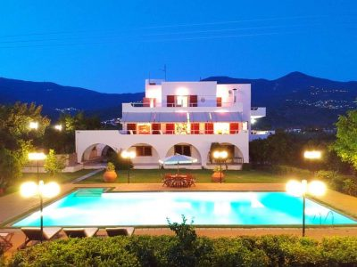 Villa Thetis in Pelion Greece, aerial view, by Olive Villa Rentals
