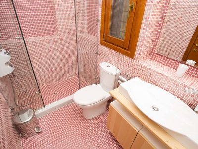 Villa Achilles in Pelion Greece, bathroom, by Olive Villa Rentals