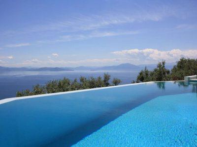 Villa Achilles in Pelion Greece, pool, by Olive Villa Rentals