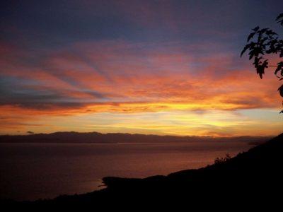 Villa Achilles in Pelion Greece, sunset, by Olive Villa Rentals