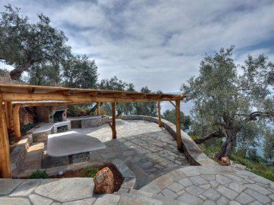 Villa Idyll in Pelion Greece, outside, by Olive Villa Rentals
