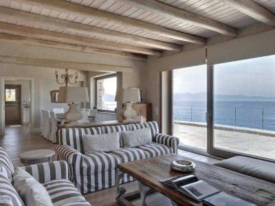 Villa Idyll in Pelion Greece, living room, by Olive Villa Rentals