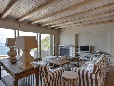Villa Idyll in Pelion Greece, living room 2, by Olive Villa Rentals