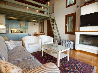 Villa Jason in Pelion Greece, living room 2, by Olive Villa Rentals