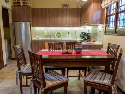 Milies House in Pelion Greece, dining room, by Olive Villa Rentals