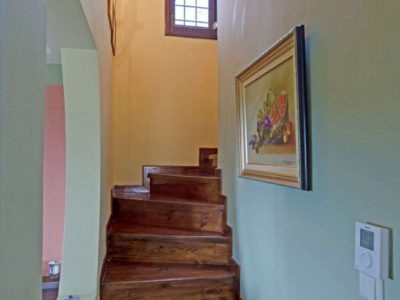 Milies House in Pelion Greece, stairway, by Olive Villa Rentals