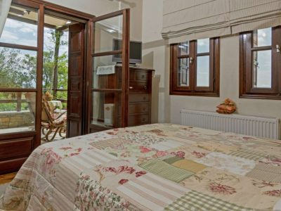 Milies House in Pelion Greece, bedroom, by Olive Villa Rentals