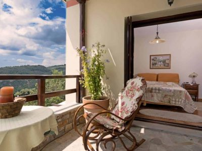 Milies House in Pelion Greece, balcony, by Olive Villa Rentals