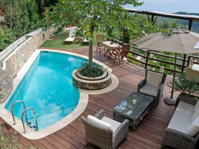 Milies House in Pelion Greece, pool 4, by Olive Villa Rentals