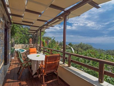 Milies House in Pelion Greece, sea view, by Olive Villa Rentals