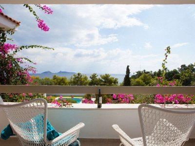 Villa Amy in Porto Heli Greece, balcony, by Olive Villa Rentals