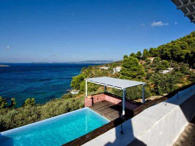 Villa Cybele in Skopelos Greece, sea view, by Olive Villa Rentals