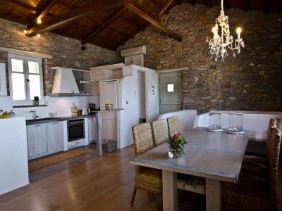 Villa Cybele in Skopelos Greece, dining table 2, by Olive Villa Rentals