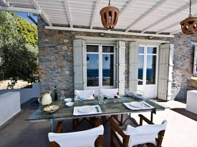 Villa Cybele in Skopelos Greece, dining table 3, by Olive Villa Rentals